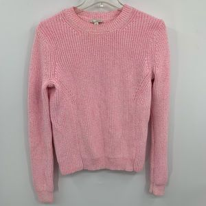 GAP pink wih white pull over sweater